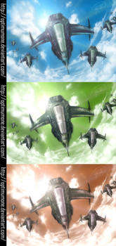 Sky War: 3 Different Colors
