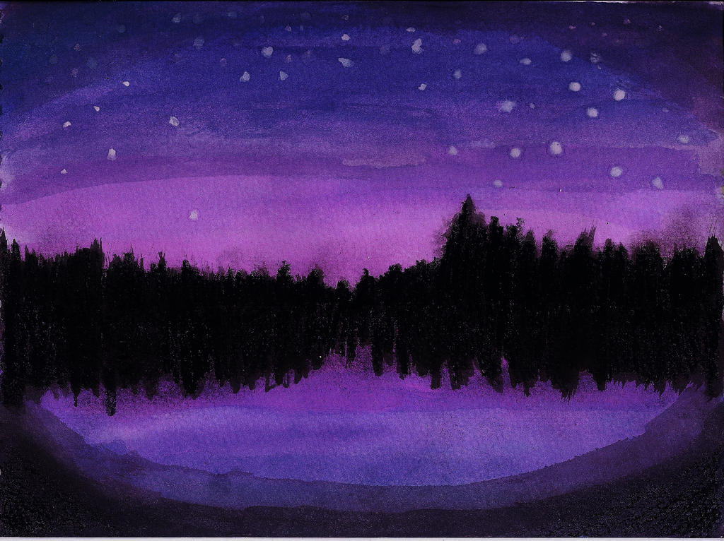 Night Sky and Lake