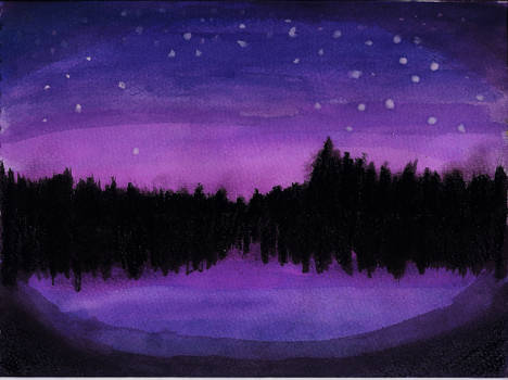 Night Sky and Lake