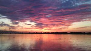 Sunset,Belgrade,Ada huja