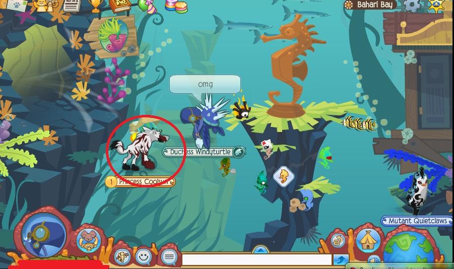 Animal jam - Underwater Land animal
