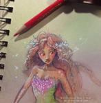 Blind Follies: Persephephone -colorized sketch-