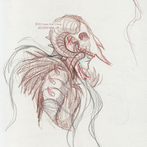 Blind Follies - Hades Concept Sketch by SarahRStraub