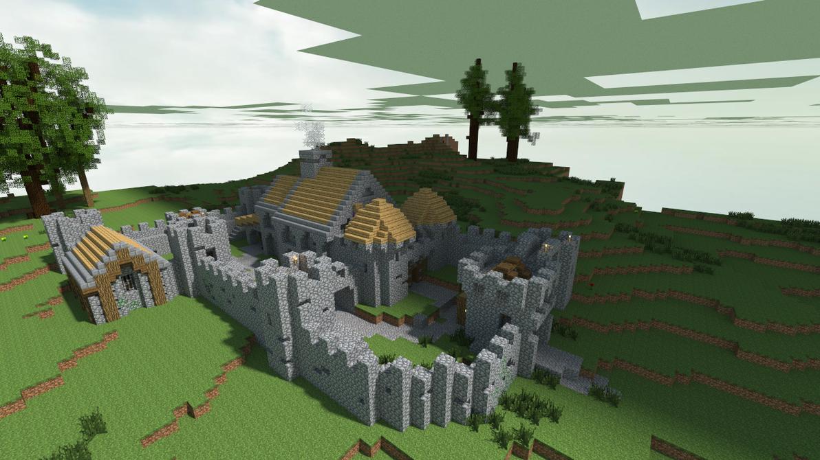 minecraft pe how to build a simple castle