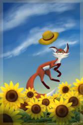 Little sunflower by Chess-Kitten