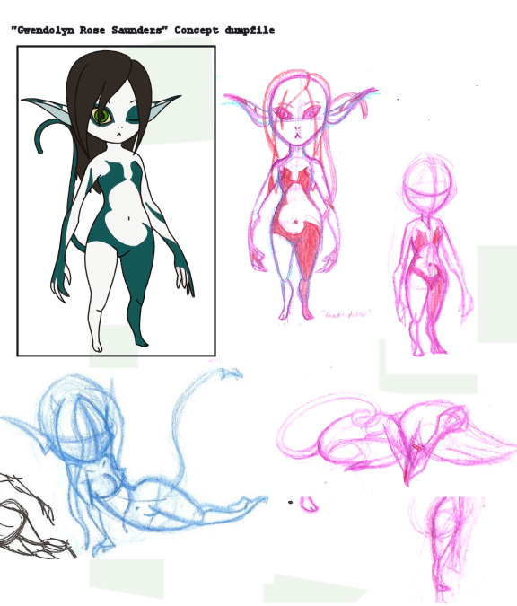 Concept - Gwendolyn Rose Saunders Imp Form by sweeneykitkat