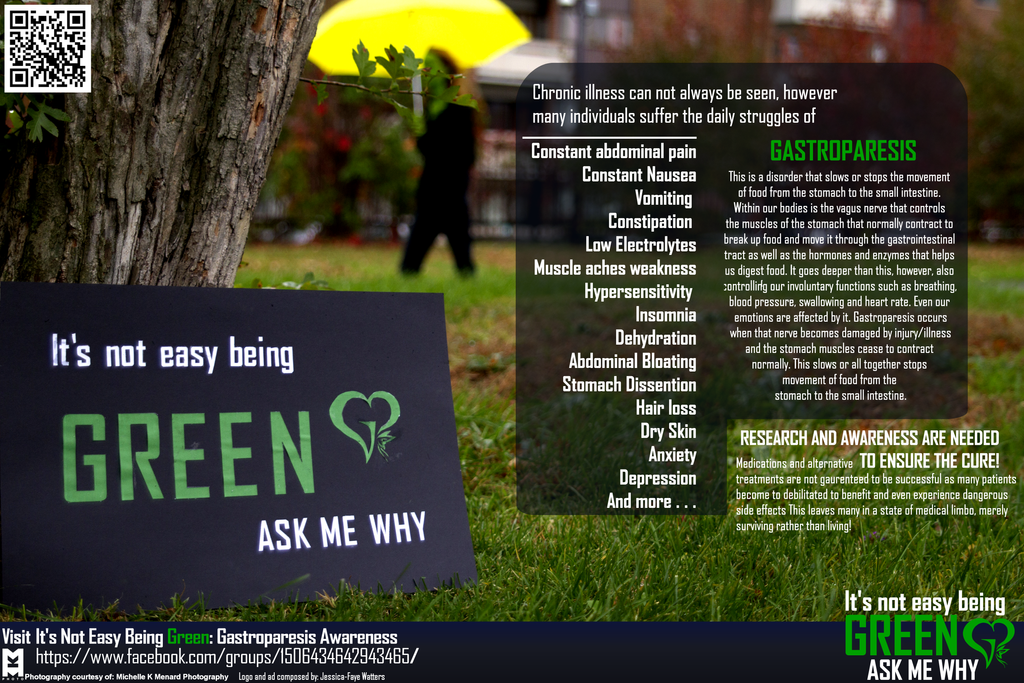 It's Not Easy Being Green Awareness poster by sweeneykitkat