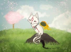 Tiny Okami by Zolfyer