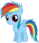 Young Rainbow Dash