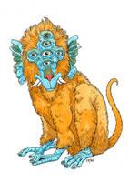 Many-Eyed Lion Monkey. by timmolloy