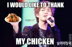 SHINee Onew Thanks his Chicken xD by ZeloMankane