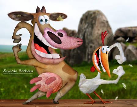 Untooned Cow and Chicken Cartoon Network