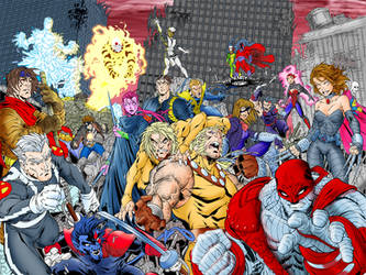X-Men Age of Apocalypse color by drywall