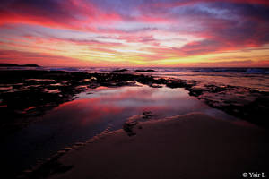 sunset reflection by Yair-Leibovich