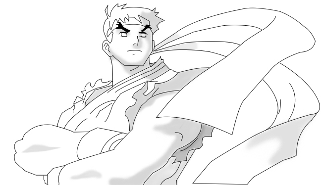 Ryu Lineart By Marcelosgc On Deviantart