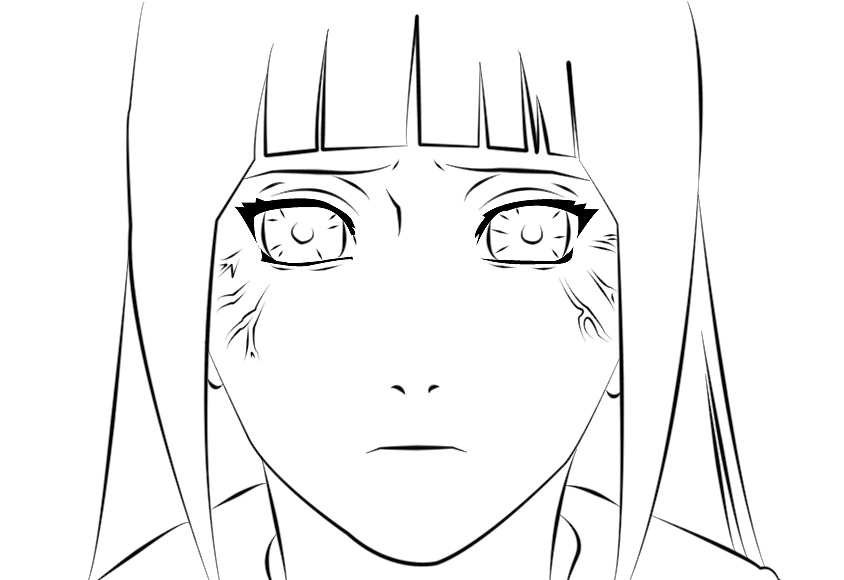Line Drawing Male Face : Hinata face lineart by marcelosgc on deviantart