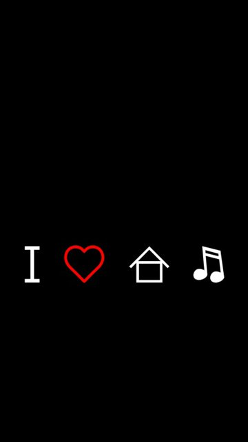 Pin house music wallpaper minimal view with four symbols for House music symbol