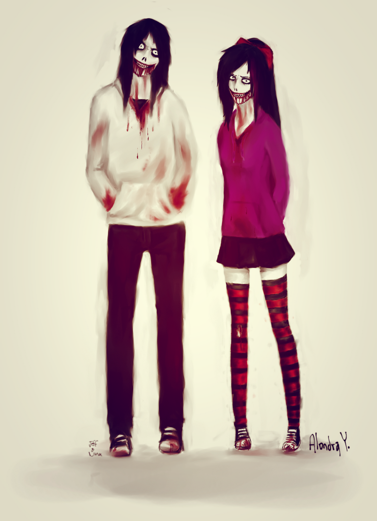 Jeff the killer and Nina the killer by Aanime-AartG on ...