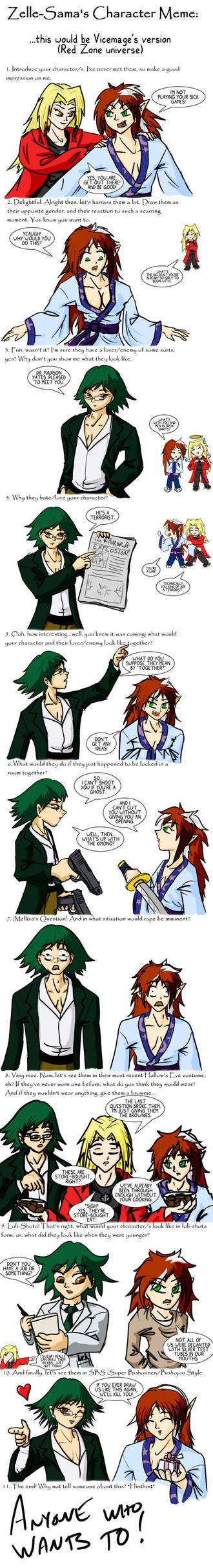 Zelle-Sama's Character Meme