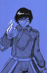 Roy in Blue