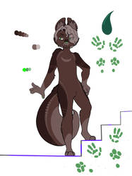 new furry oc (color reference sheet)