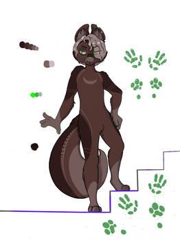new furry oc (shaded version)