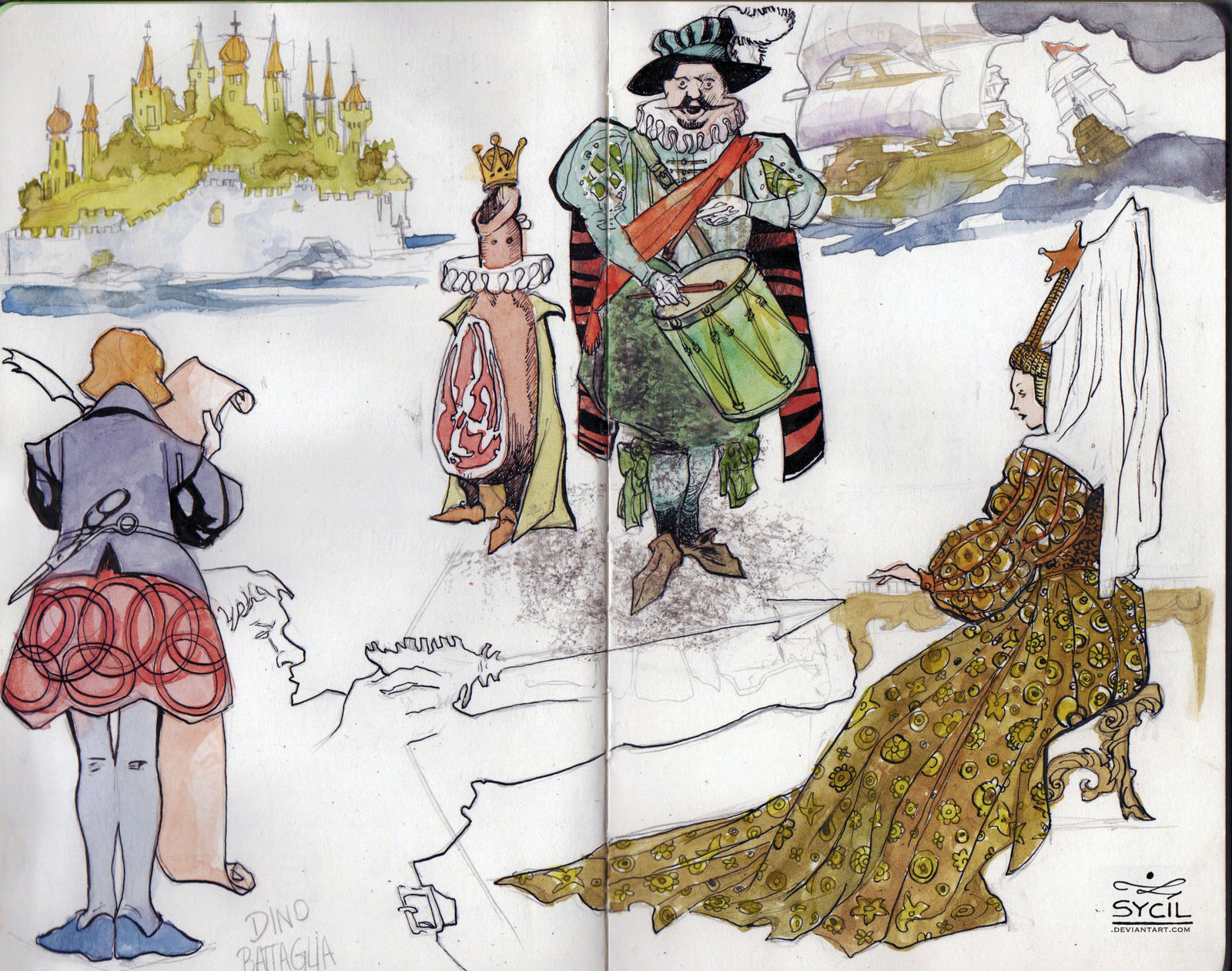 Battagllia sketches by Sycil