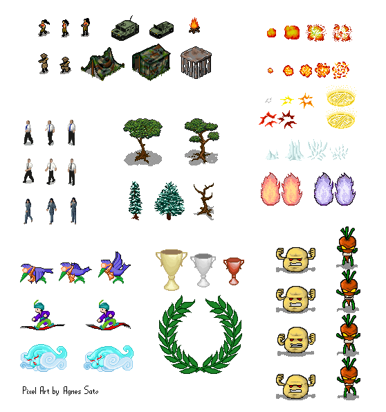 Elements Of Art Line Quiz : Pixel art game elements by wtenshi on deviantart