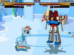 Mugen Rainbow Dash vs. Starscream
