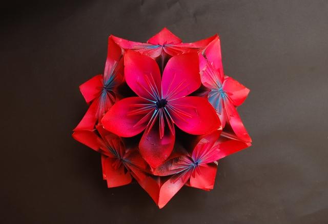 Paper Flower Origami 3d Model Highend3dcom Psychologyarticlesfo