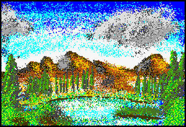 Mario Paint Bob Ross Experiment