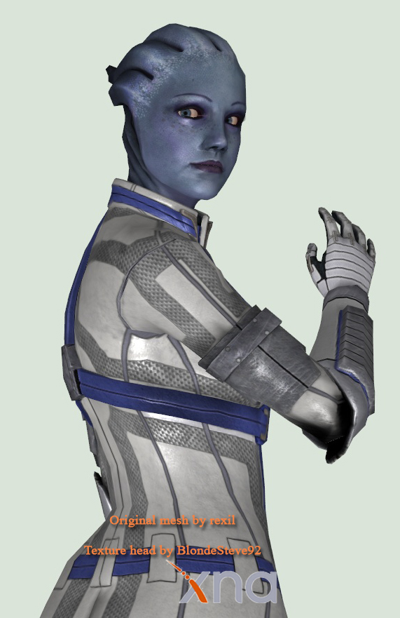 Liara T'Soni in Mass Effect 3 by lazalka