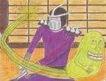 TMNT and GB (Shredder Gets Slimed) by SunfireRanger