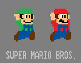 Super Mario Bros. Movie - Pixel Art (Modernized) by SunfireRanger