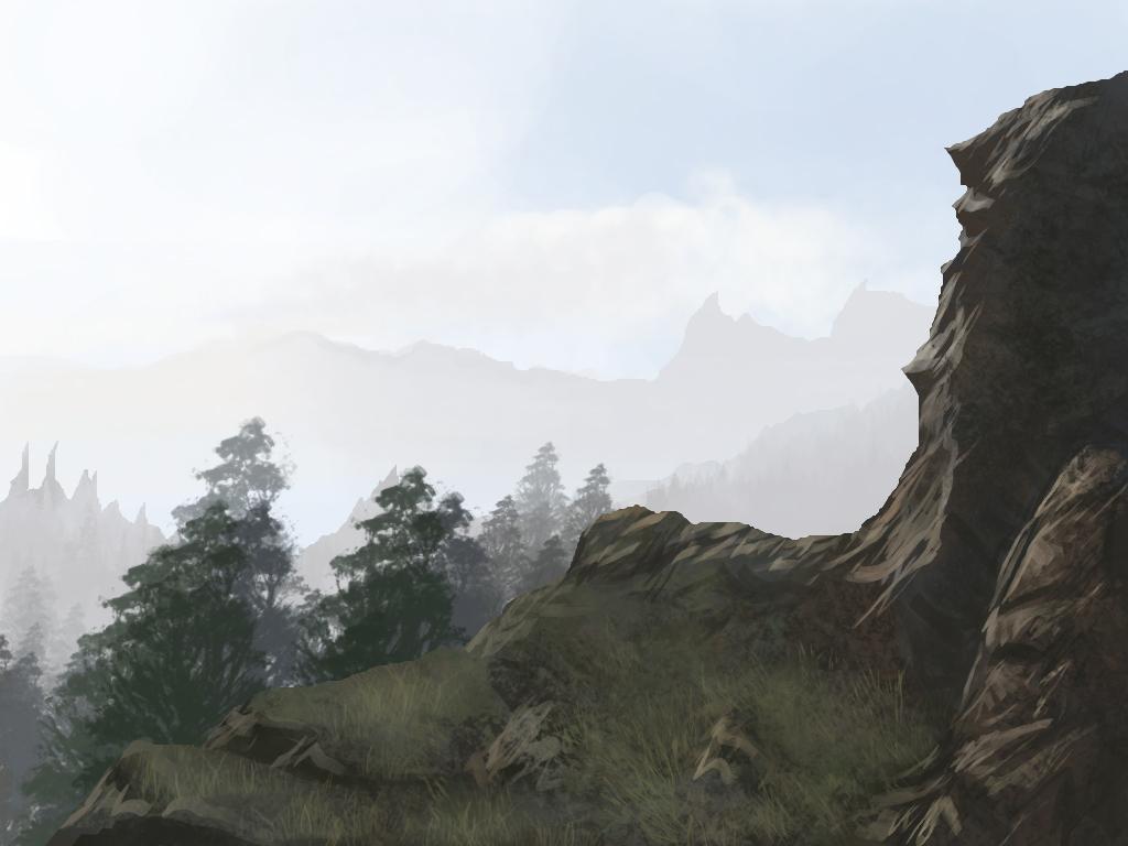 Practice: Landscape speedpaint1 by T0xicEye