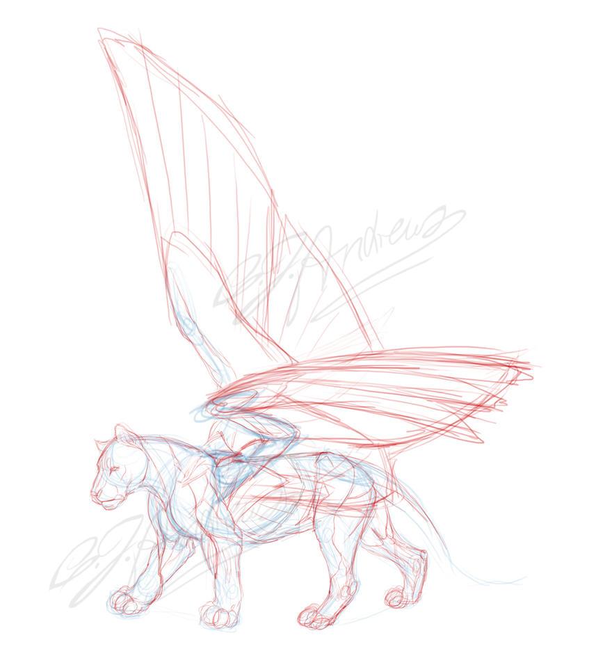 Practice: Feline/Fantasy anatomy by T0xicEye on DeviantArt
