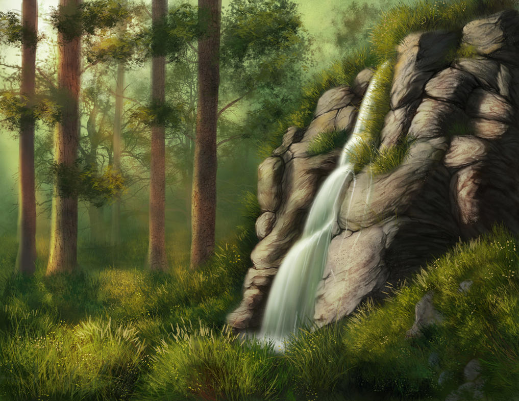 Practice Landscape painting1 by T0xicEye