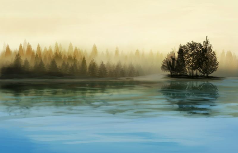 Practice: Landscape Speedpainting6 by T0xicEye