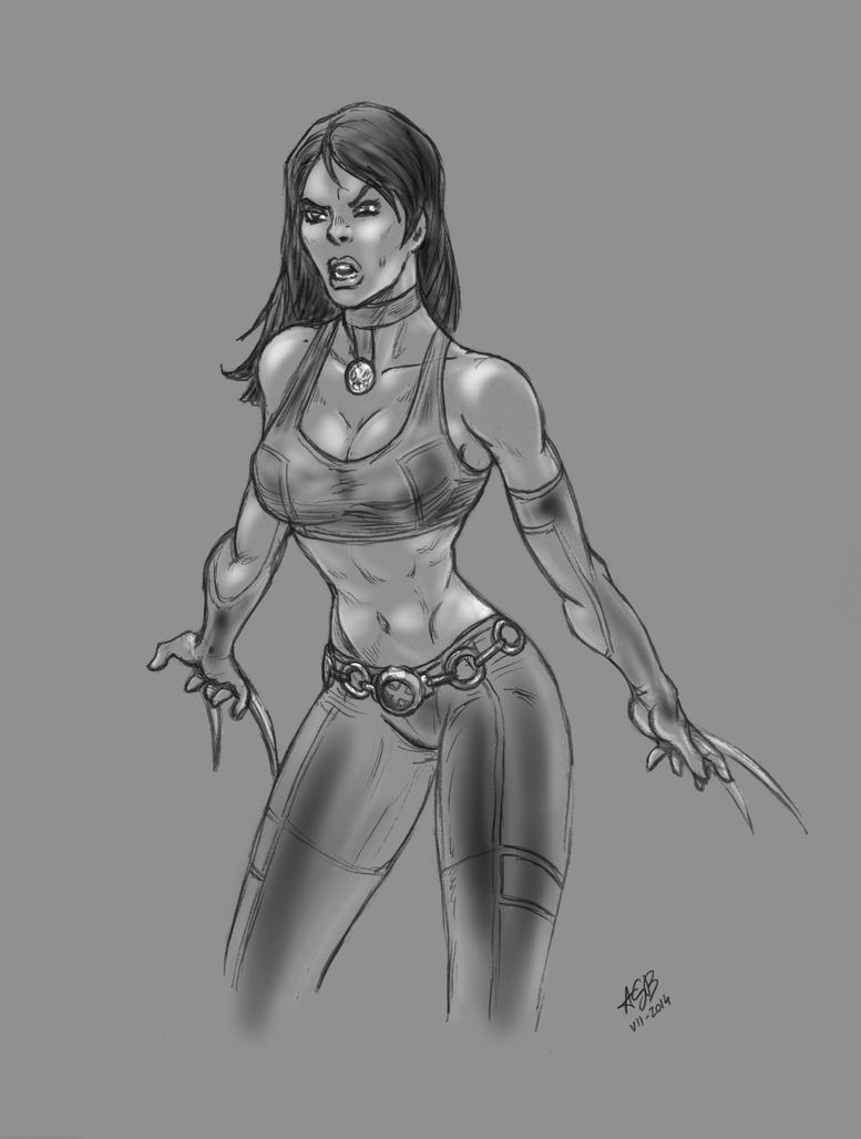 X-23 sketch 2B by AnthonyGB