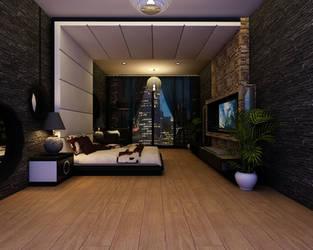 Lux Bedroom Night scene
