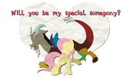 Fluttershy and Discord Valentines Card