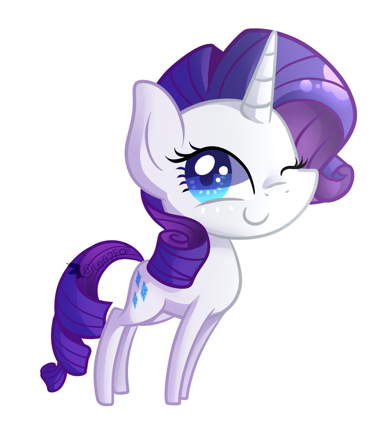 Chibi Rarity by Left2Fail on DeviantArt
