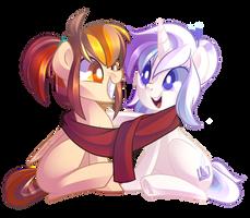 Comm: Scarf Sisters by DrawnTilDawn