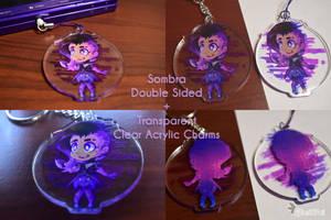 Sombra Double Sided Clear Acrylic Charm