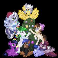 Christmas Pones by DrawnTilDawn