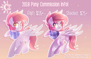 2018 Pony Commission Info (Closed) by DrawnTilDawn