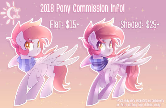 2018 Pony Commission Info (Closed)