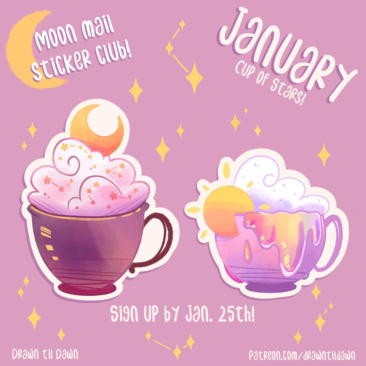 Moon Mail Sticker Club: January