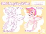 Pony Commissions Info Sheet - 2021