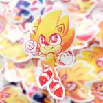 Super Sonic Holographic Sticker